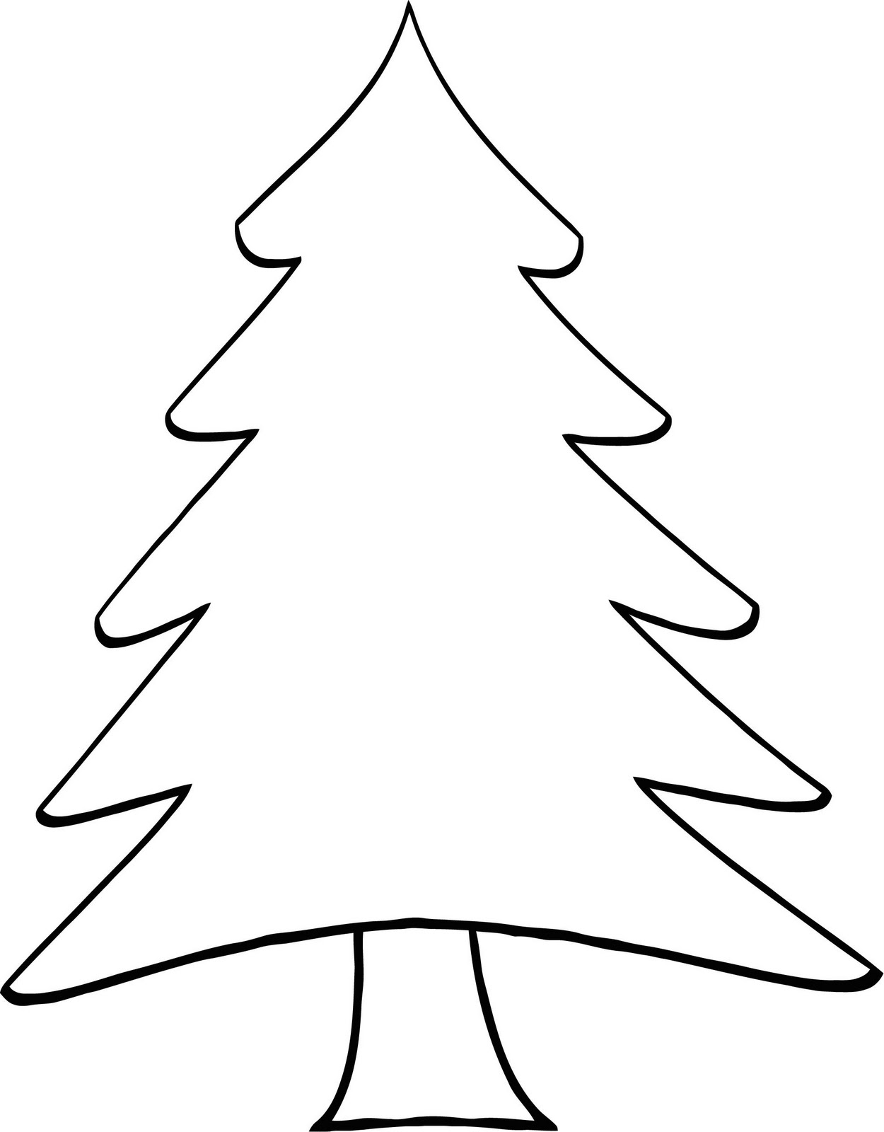 Christmas Tree Outline Clipart (106+ images in Collection) Page 1.