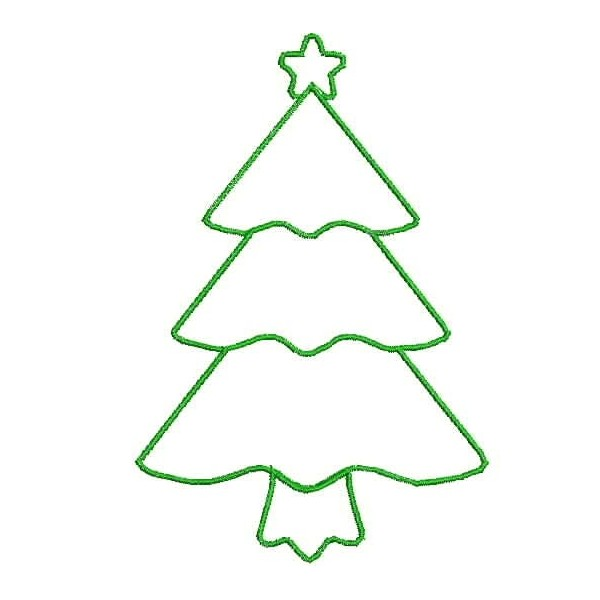 Free Christmas Tree Outlines, Download Free Clip Art, Free Clip Art.