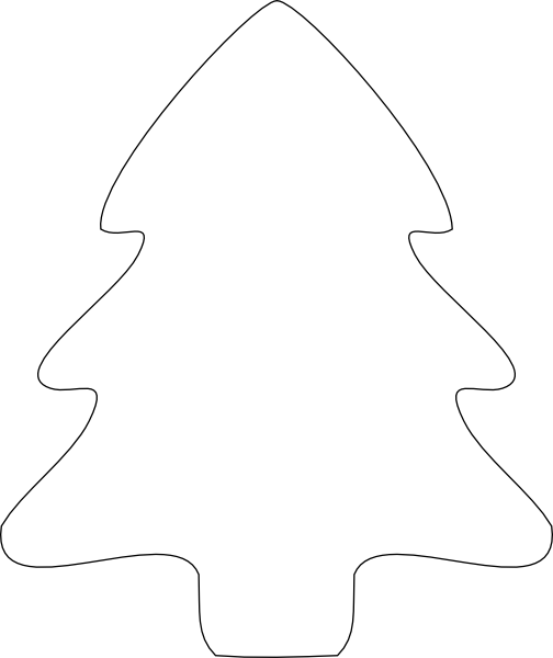 Free Christmas Tree Outlines, Download Free Clip Art, Free.