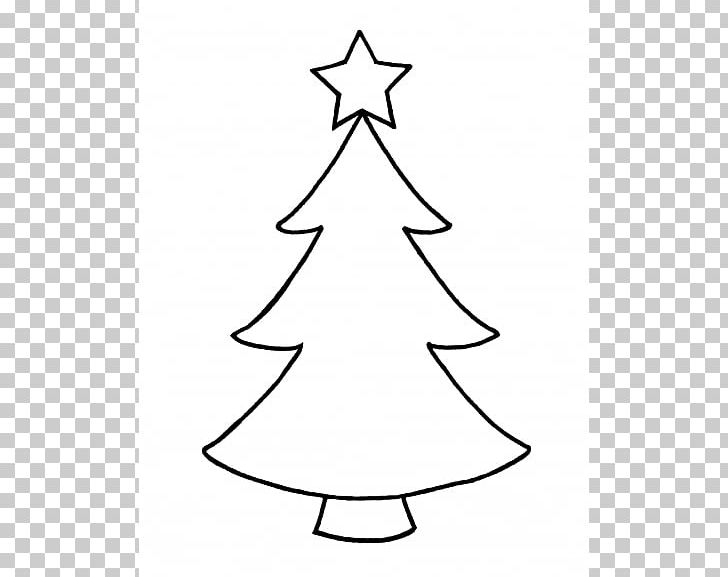 Christmas Tree Outline PNG, Clipart, Area, Black And White.