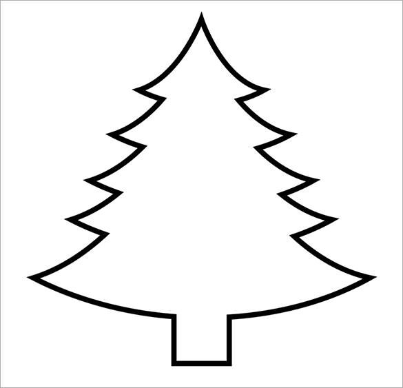 Free Printable Christmas Tree Template.