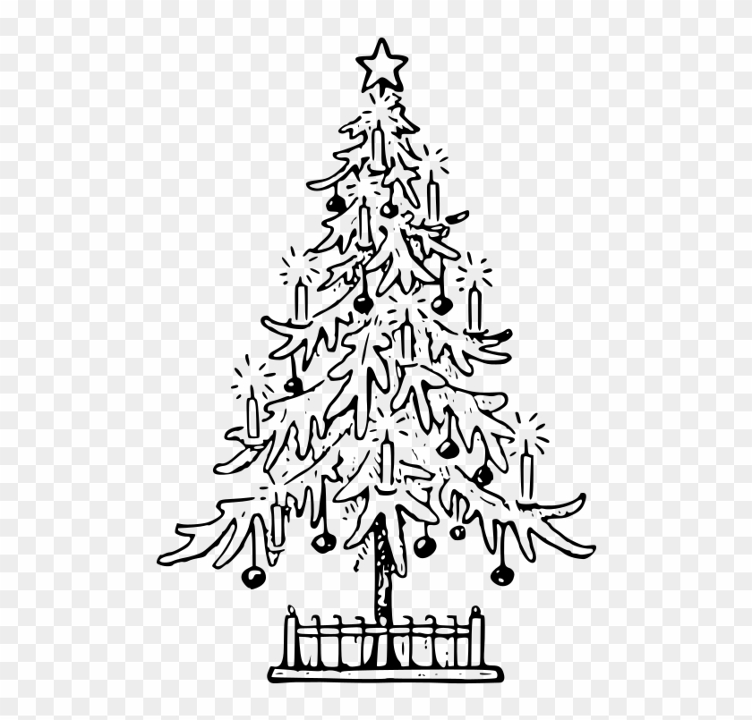 Christmas Tree Images Outline , Png Download.