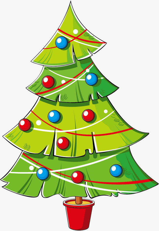 Free Cartoon Christmas Tree Png, Download Free Clip Art.