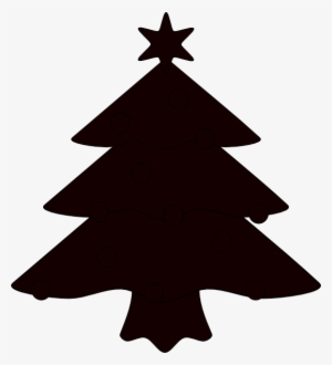 Christmas Tree Silhouette PNG Images.