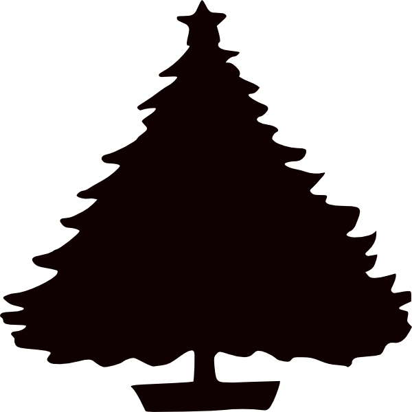 Black Christmas Tree Silhouette Clip Art at Clker.com.