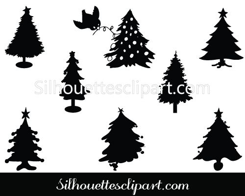 Black And White Free Christian Clip Art christmas tree s...