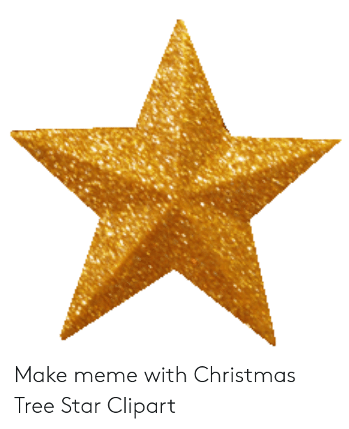 Make Meme With Christmas Tree Star Clipart.