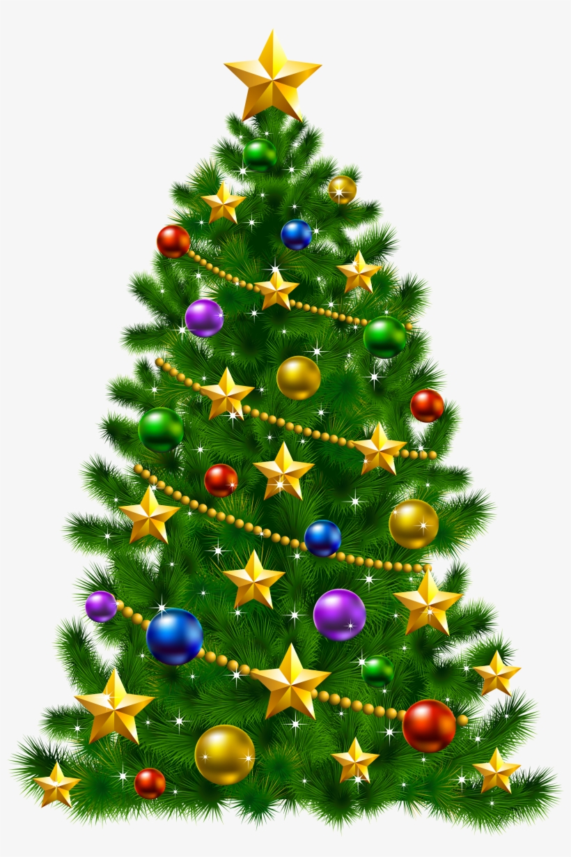 Vector Library Christmas Tree Star Clipart.