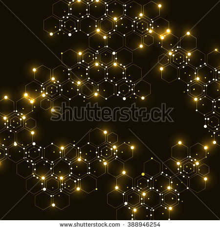 Abstract Golden Glittering Twinkling Night Sky Stock.