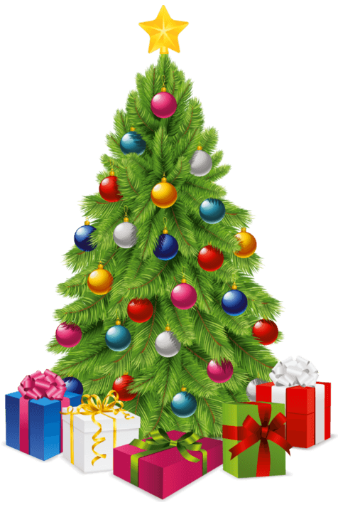 Christmas Tree Gifts transparent PNG.