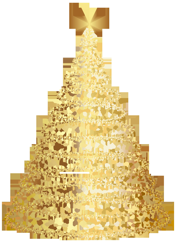 Gold Christmas Tree Transparent. 2173*3001..