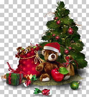Christmas tree , Transparent Christmas Tree with Teddy Bear , green.