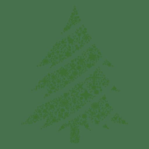 Snowflake christmas tree.