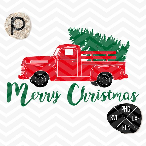 Christmas Tree Delivery Truck SVG*Truck SVG*Christmas Truck Old.