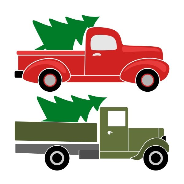 Christmas Truck SVG Cuttable Designs.