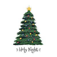 Christmas Tree Art Free Vector Art.