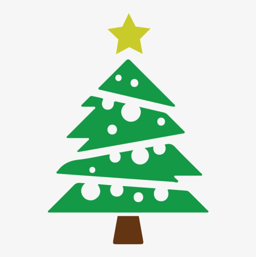 Christmas Tree Vector Icon.