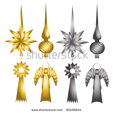 Christmas Tree Topper Stock Images, Royalty.