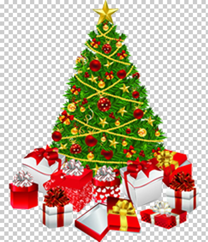 Christmas tree Christmas gift , Christmas tree, green.