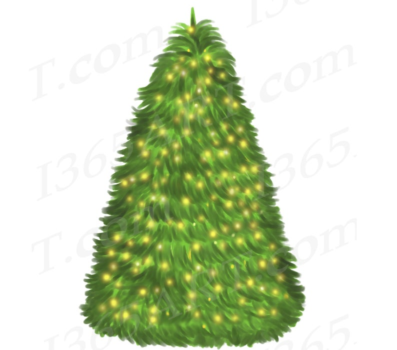 50% OFF Watercolor Christmas Tree Clipart, Christmas Tree Clip Art, Tree  with lights, Hand Painted Tree, DIY, Card Making, Scrapbooking, PNG.