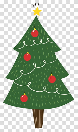 Christmas, red star Christmas tree topper transparent background PNG.
