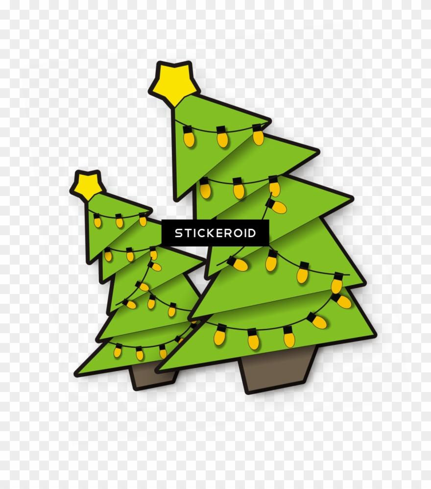 Christmas Trees With Lighting.