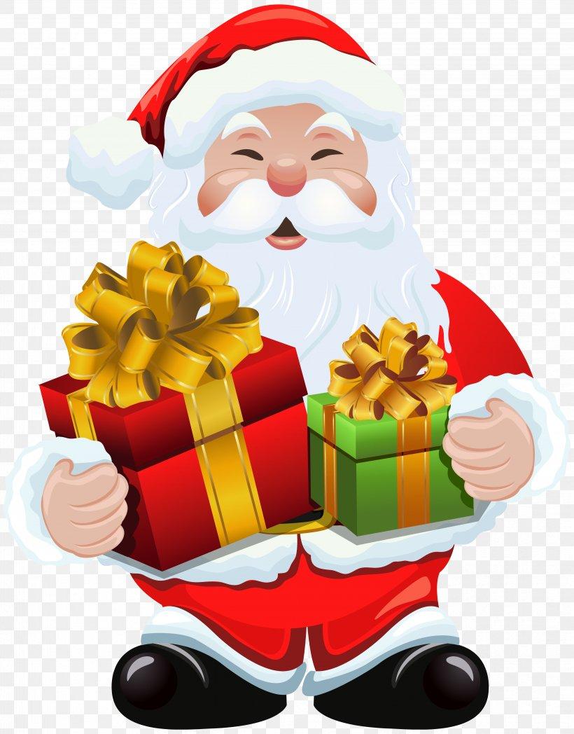 Santa Claus Gift Christmas Tree Clip Art, PNG, 4659x5959px.