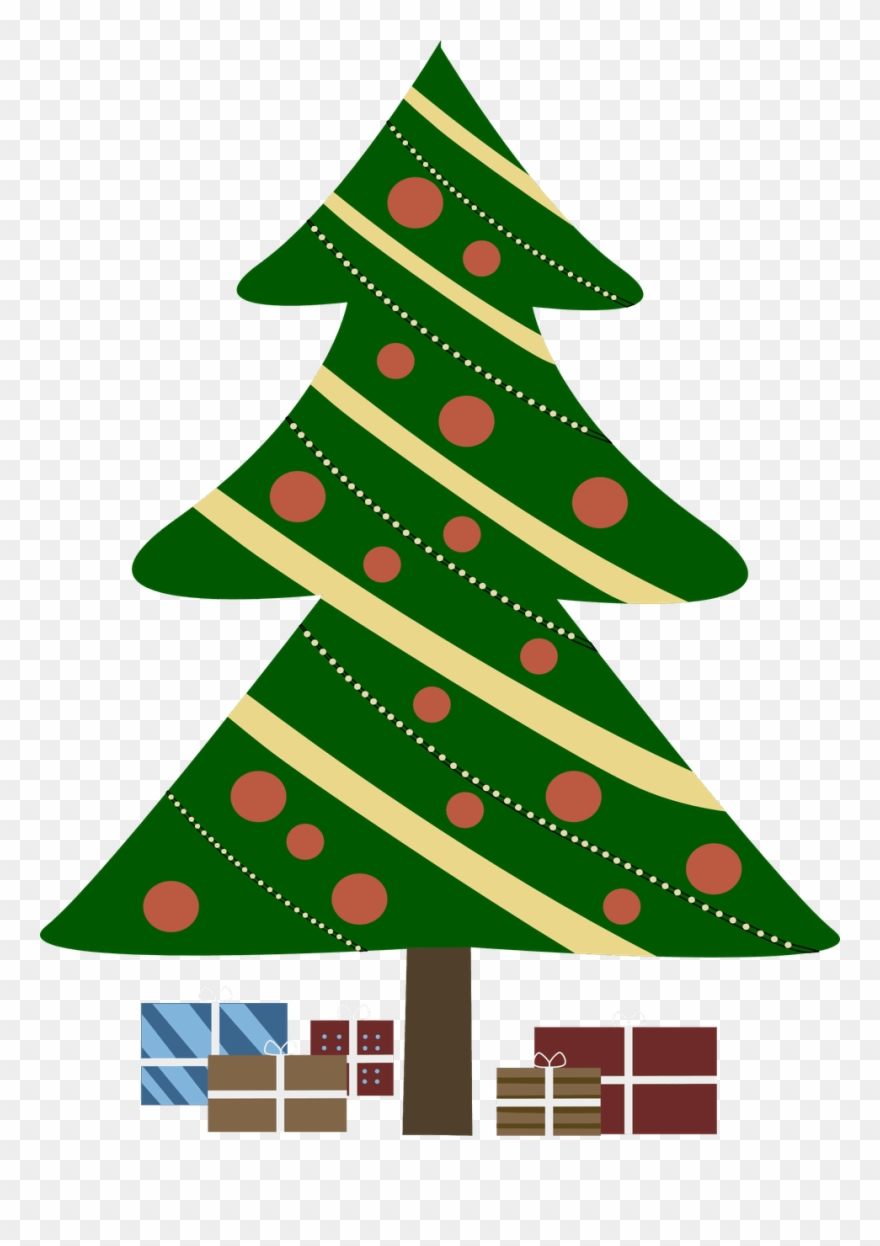 Image Christmas Tree With Presents Clipart.