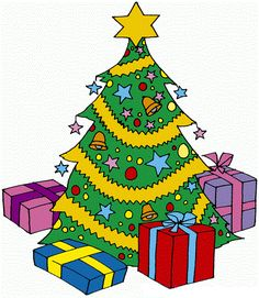 Christmas Tree With Presents Clipart 12.