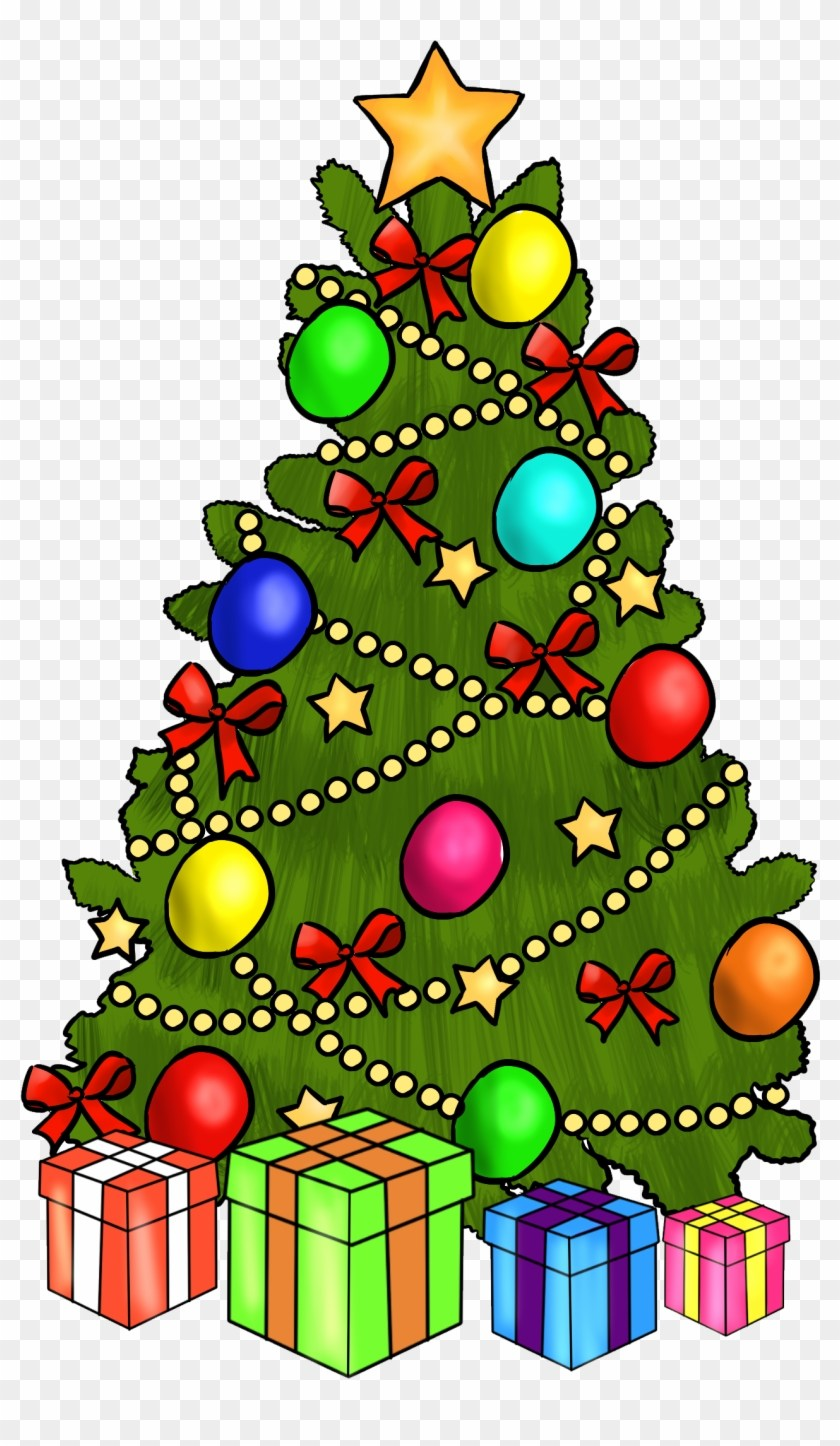 Christmas tree with presents clipart 4 » Clipart Portal.