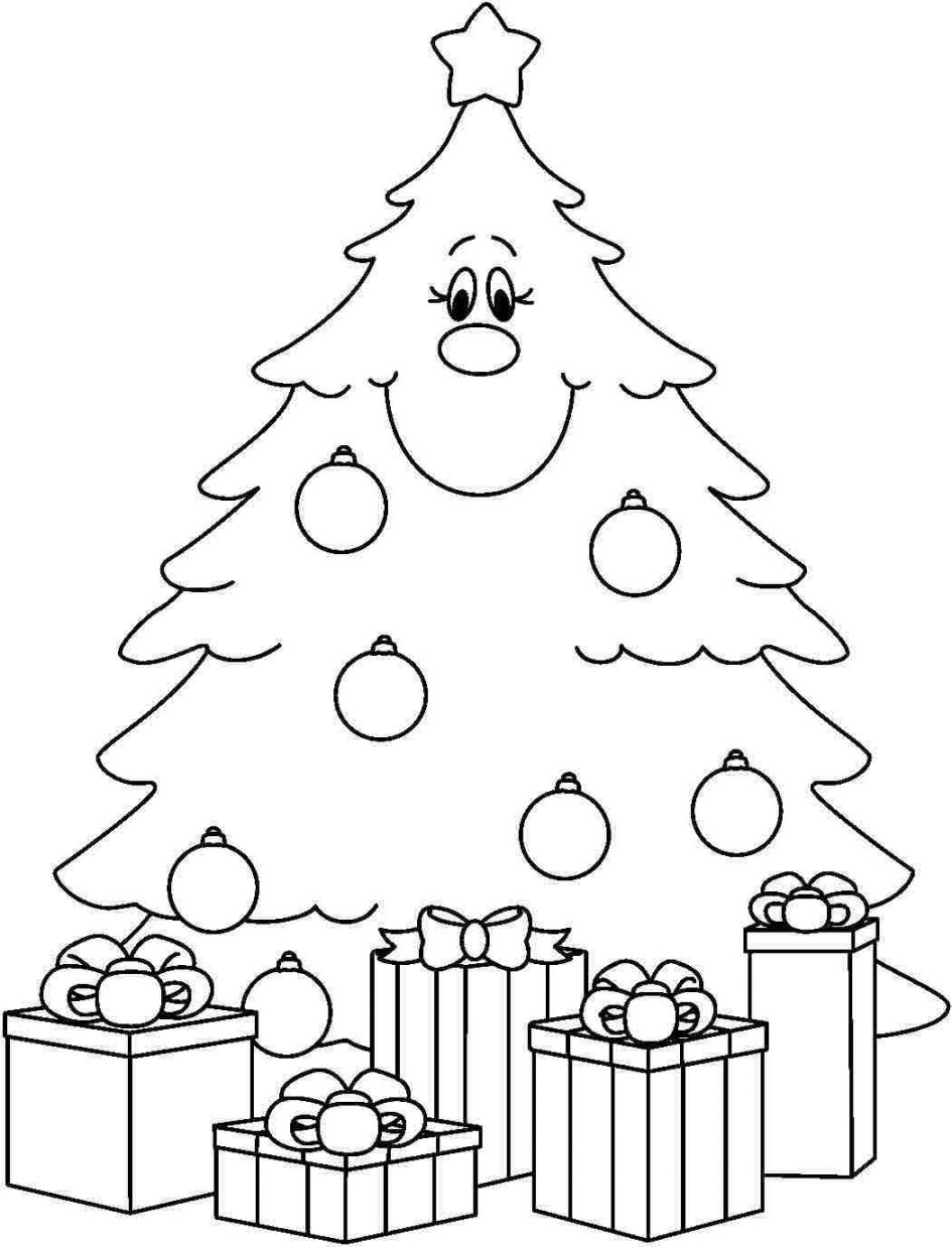 Download Coloring Pages. Plain Christmas Tree Coloring Page: Plain.