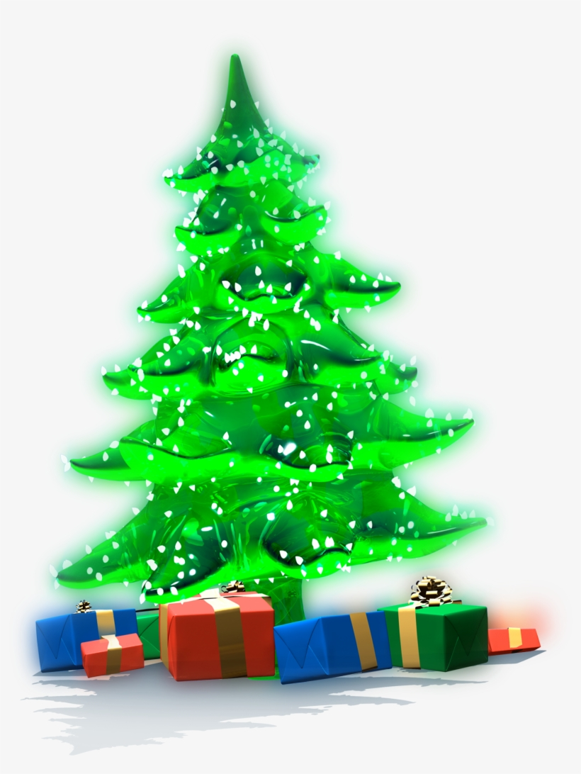 Christmas Tree And Presents Png Clip Art Library Download.
