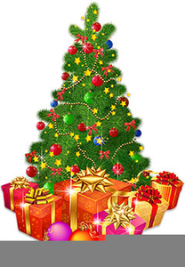 Clipart Of Christmas Trees With Presents.