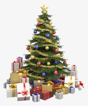 Christmas Tree With Presents PNG, Transparent Christmas Tree With.
