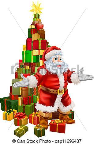 Santa Claus Christmas Tree Gifts.