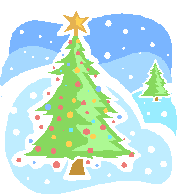 Christmas Tree in Snow clipart, photo, images, and cartoon pictures.