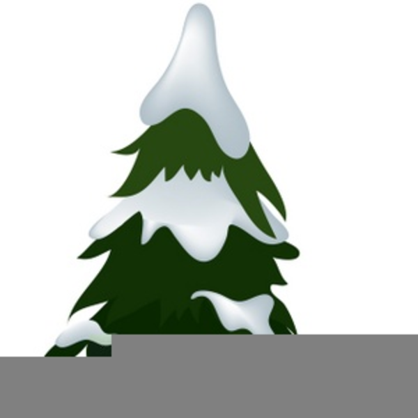 Trees With Snow Clipart.