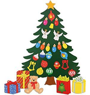 Amazon.com: Vovomay_Christmas 3D DIY Felt Christmas Tree Tree Set.
