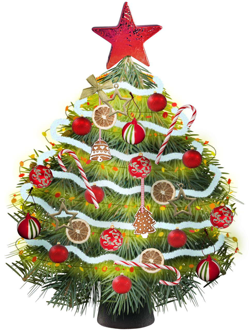 Christmas tree clipart with colorful christmas toys image #10012.