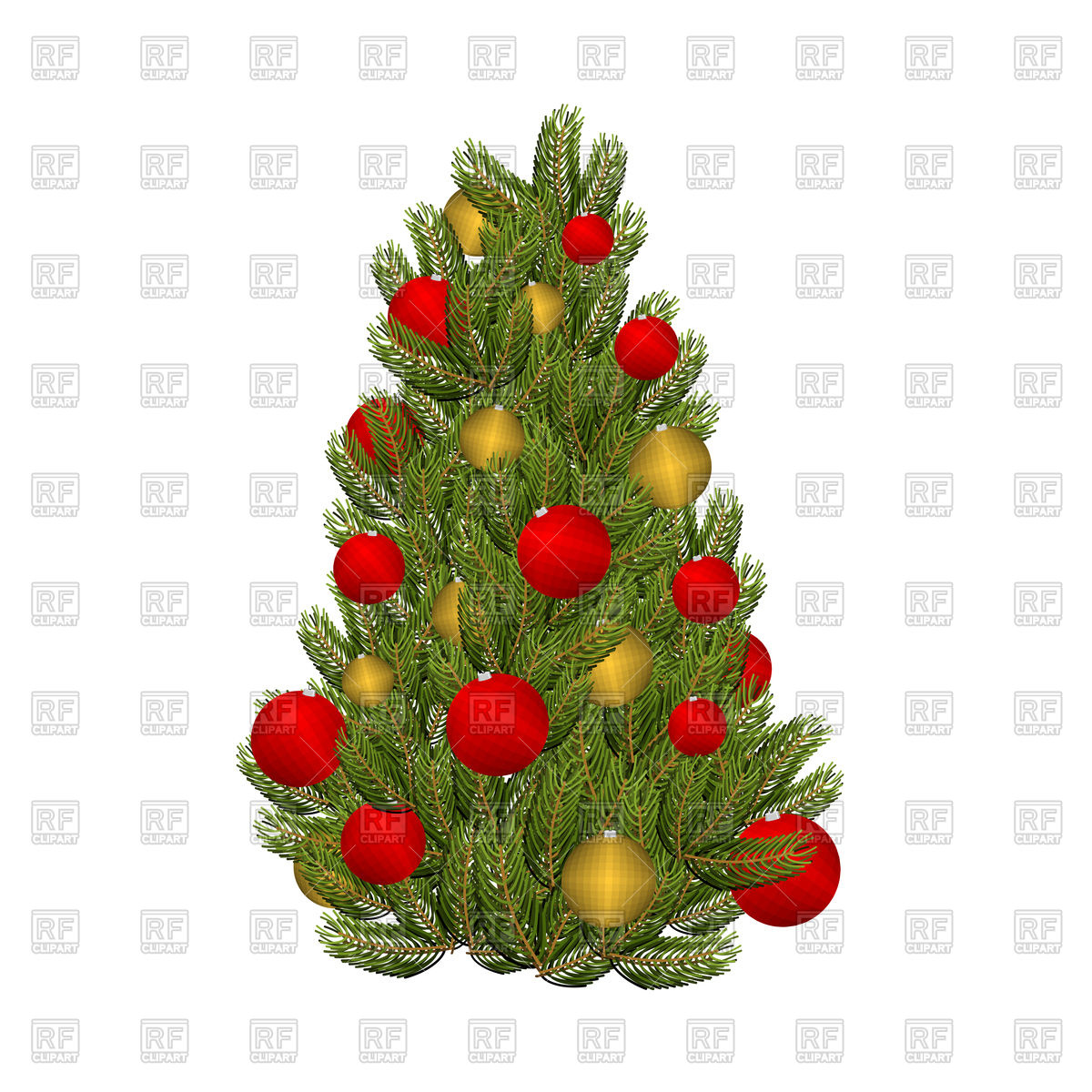 Christmas tree and toys Stock Vector Image.