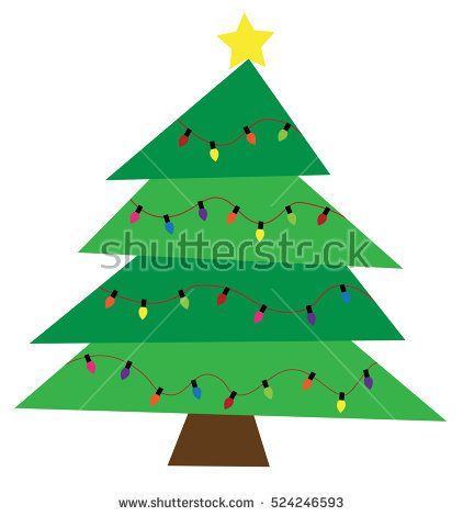 christmas tree clipart stock photos royalty - A Christmas Tree