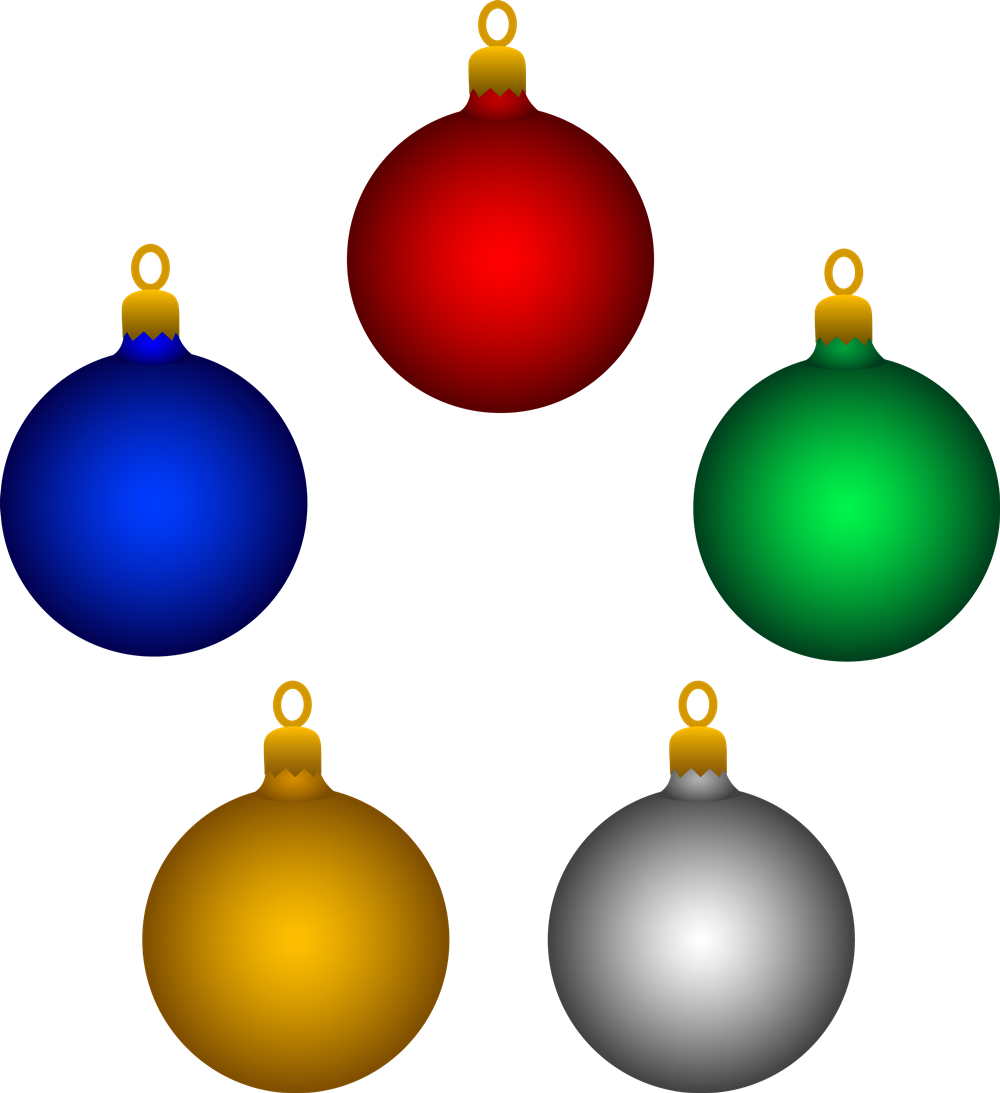 Christmas Tree Baubles Clipart (73+).