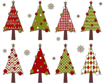 Christmas trees clipart #9