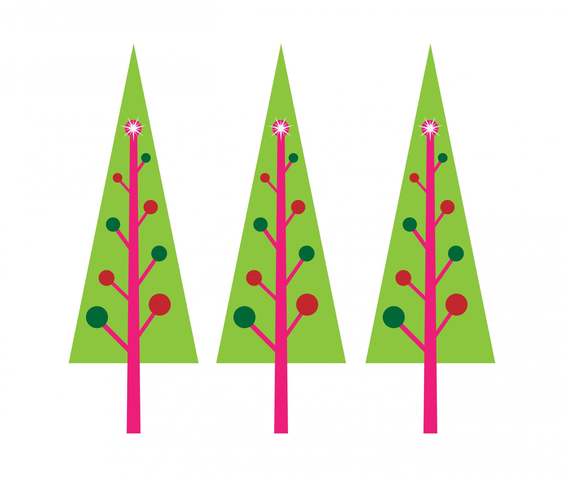 Christmas Trees Clipart Free Stock Photo.