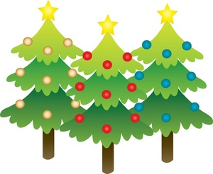 Christmas trees clipart #13