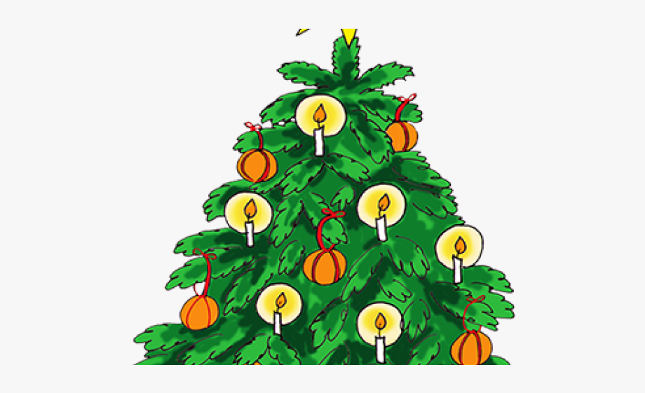 Christmas Tree Clipart Old Fashioned.