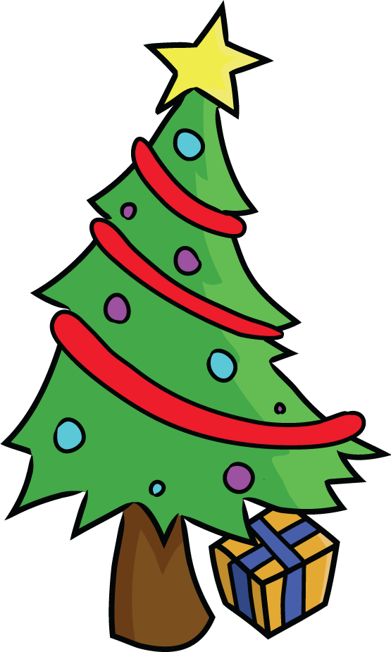 Cartoon Christmas Tree Pictures.