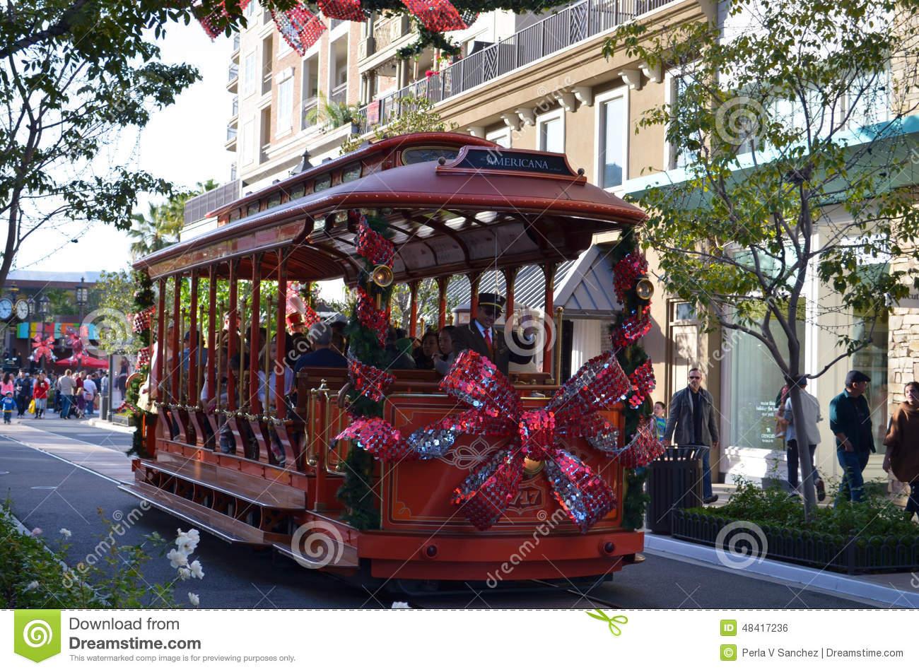 Glendale Americana Trolley Car Editorial Photo.