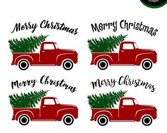 Red truck clipart.