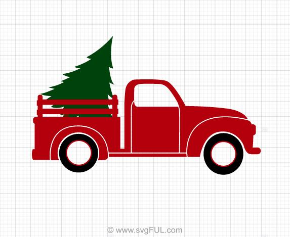 Christmas Truck Svg Clipart.